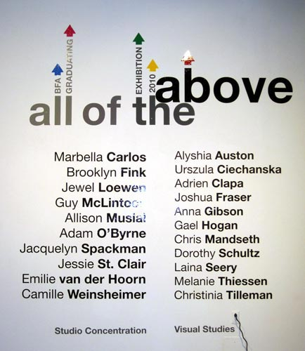 all of the above - U of C Grad Show case