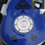 spades - motorcycle tank decals