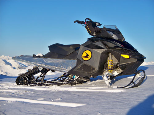 Snowmobile sled decal