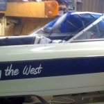 Boat name sticker
