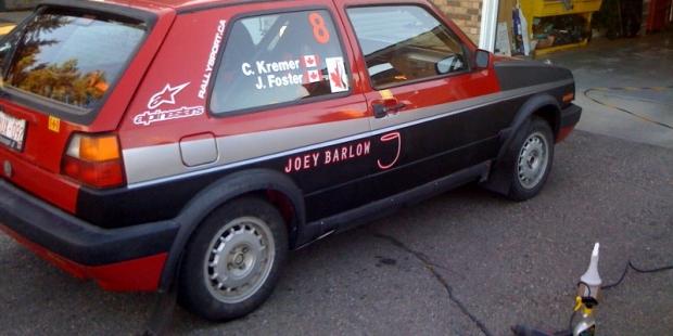 Joey Barlow Rally Car Livery