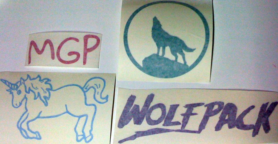 MGP, Wolf Pack, Unicorn Stickers