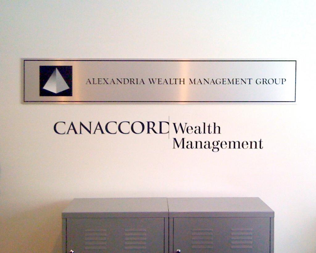 CannAccord Wealth Management wall vinyl
