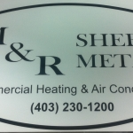 """M & R Sheet Metal - 12"""" x 24"""" magnet"""