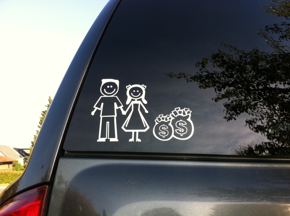 Dual Income No Kids Family Stickers Betacuts Custom