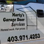 martys garage truck advertising