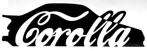 Corolla Coca Cola Sticker Ae86 Betacuts Custom Vinyl