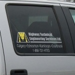 HTES Highway Technical Engineering Services truck fleet graphics