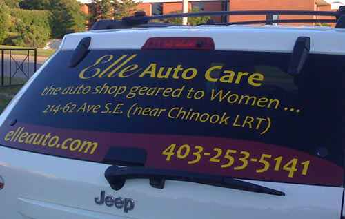 Elle Auto Care – Vehicle and Wall install