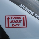 This Side UP! rally decal