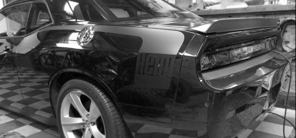 Dodge Challenger Hemi Decal kit - Hockey sticks