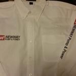 custom dress shirt for sales rep.