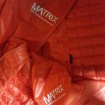 Sponsor heat-pressed to ski jacket